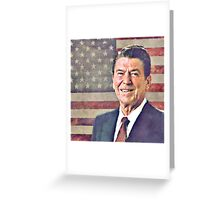 Patriot Ronald Reagan Greeting Card