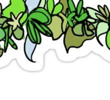Flower Crown - Green Sticker