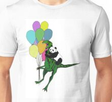 Dino and panda ballon print Unisex T-Shirt