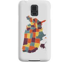 USA colour region map Samsung Galaxy Case/Skin