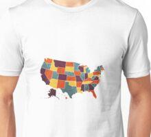USA colour region map Unisex T-Shirt