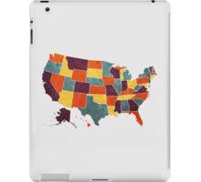 USA colour region map iPad Case/Skin