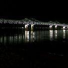 Natchez, Mississippi River Bridge at Night by Dan McKenzie