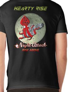 Night Attack By The Moon LIght Without Squid Hunters logo Mens V-Neck T-Shirt