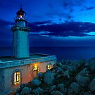 The lighthouse of Akrotainaro by Hercules Milas