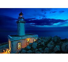The lighthouse of Akrotainaro Photographic Print