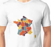France colour region map Unisex T-Shirt