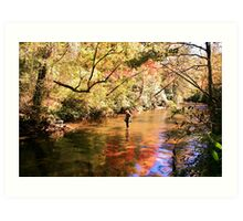 Panning for Gold Art Print
