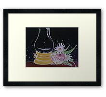 Lamp and Flowers Framed Print