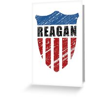 Reagan Patriot Shield Greeting Card