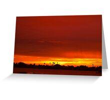 Crimson and amber world Greeting Card