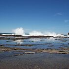Sea spray at Gerringong Swimming Rock Pool by Donna Huntriss