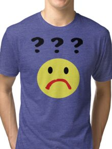 Confused Smiley Tri-blend T-Shirt