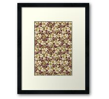 White and red Christmas roses Framed Print
