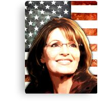 Sarah Palin Patriot Canvas Print