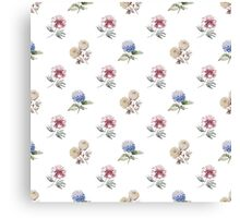 Seamless pattern with watercolor flowers Canvas Print