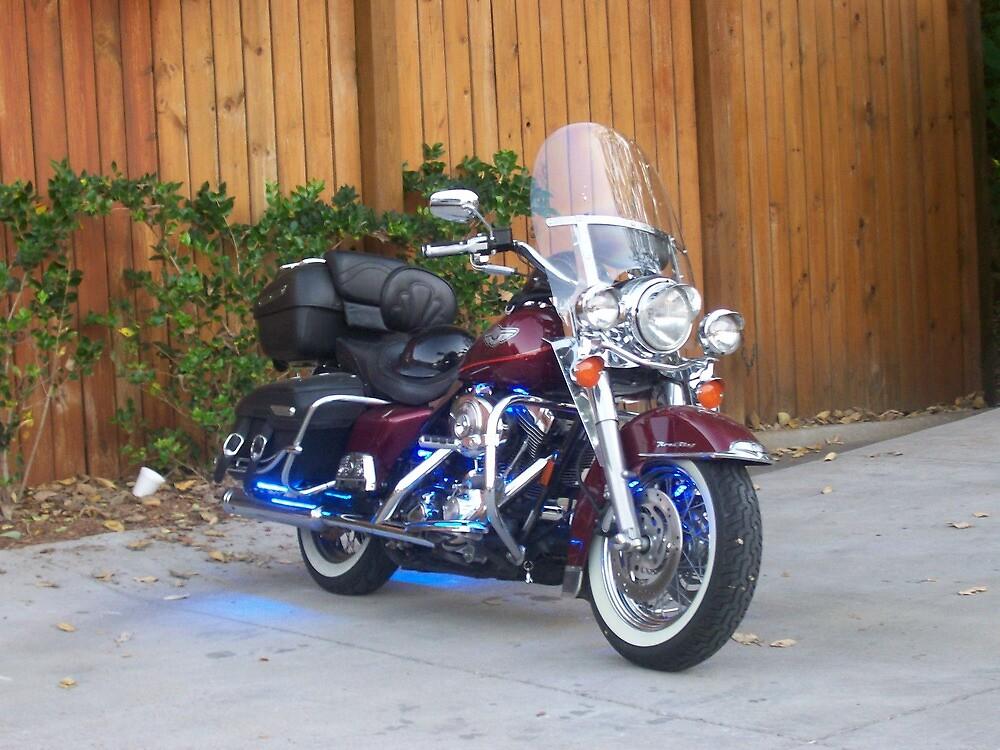 Beatiful Bike with Blue StreetGlo by Dan McKenzie