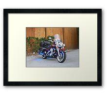 Beatiful Bike with Blue StreetGlo Framed Print