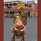 Cowgirl - bullriding at the Great Western Hotel by goanna