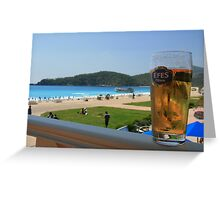 Beer by the beach - Olu Deniz, Turkey Greeting Card