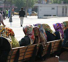 Head Scarfs - Istanbul, Turkey by craigs79