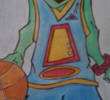 Squirt with basketball Sticker