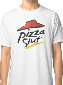 Pizza Slut Hut Fast Food Parody Classic T-Shirt