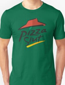 Pizza Slut Hut Fast Food Parody T-Shirt