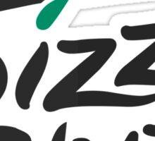 Pizza Slut Hut Fast Food Parody Sticker