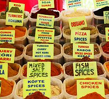 Turkish Market - Spices by Deb Gibbons