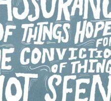 Assurance. Sticker