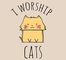 I worship cats Womens Fitted T-Shirt