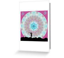 Rising Om Greeting Card