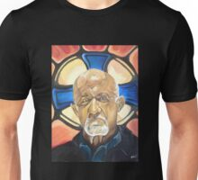 Mike Ehrmantraut Stained Glass Background Breaking Bad Fanart Unisex T-Shirt