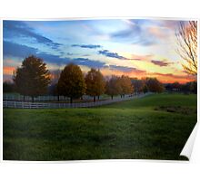 The Long Driveway at Sunset Poster
