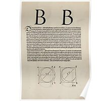 Measurement With Compass Line Leveling Albrecht Dürer or Durer 1525 0117 Alphabet Letters Calligraphy Font Poster
