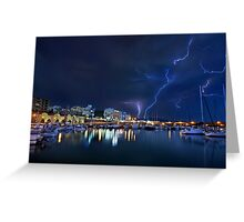 Storm at the old port of Heraklion Greeting Card