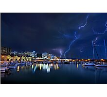 Storm at the old port of Heraklion Photographic Print