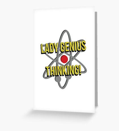 Lady Genius Thinking Greeting Card