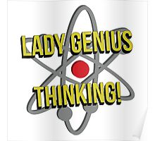 Lady Genius Thinking Poster