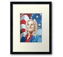 Fictional American Leslie Knope Parks & Recreation Fanart Framed Print