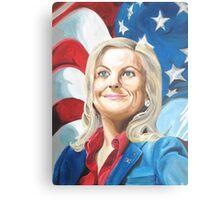 Fictional American Leslie Knope Parks & Recreation Fanart Canvas Print
