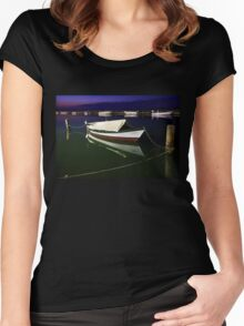 Fishing boat at Lefkada island Women's Fitted Scoop T-Shirt