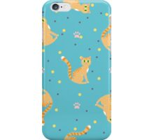 Red cats pattern iPhone Case/Skin