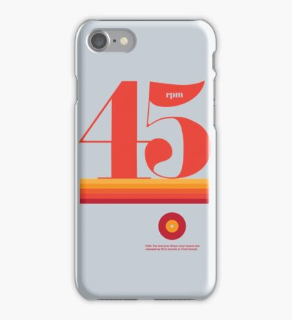 45rpm iPhone Case/Skin