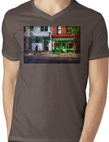 Soho Street Scene Mens V-Neck T-Shirt