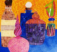 Mosaic Bottles by Cathy Gilday