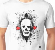 Poker skull with splater all over Unisex T-Shirt