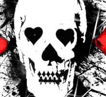 Poker skull with splater all over Sticker