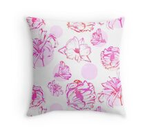 Flora Pop Pink Throw Pillow